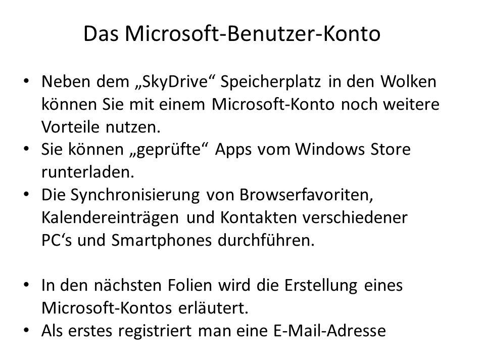 Das Microsoft-Benutzer-Konto