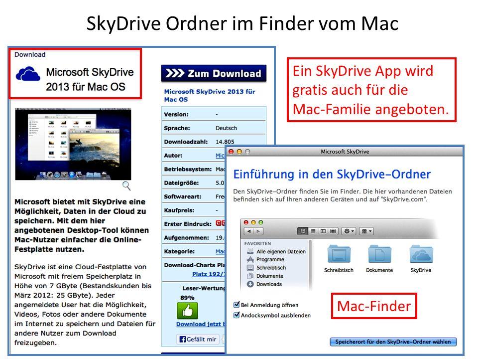 SkyDrive Ordner im Finder vom Mac