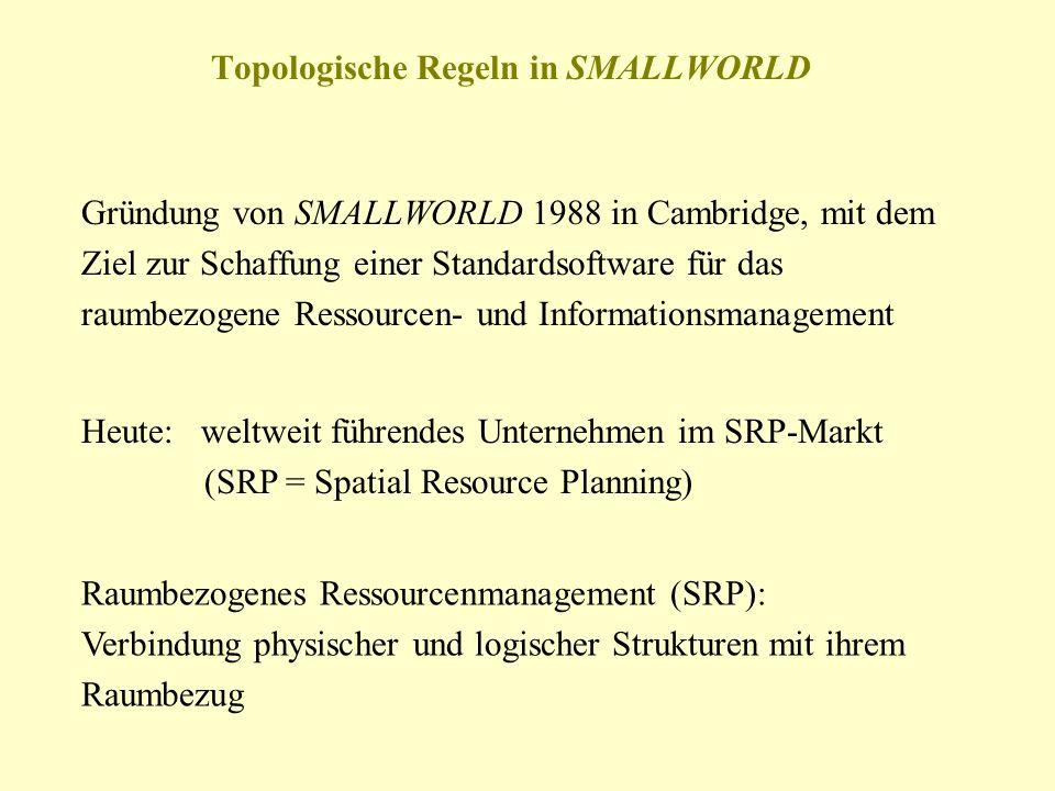 Topologische Regeln in SMALLWORLD