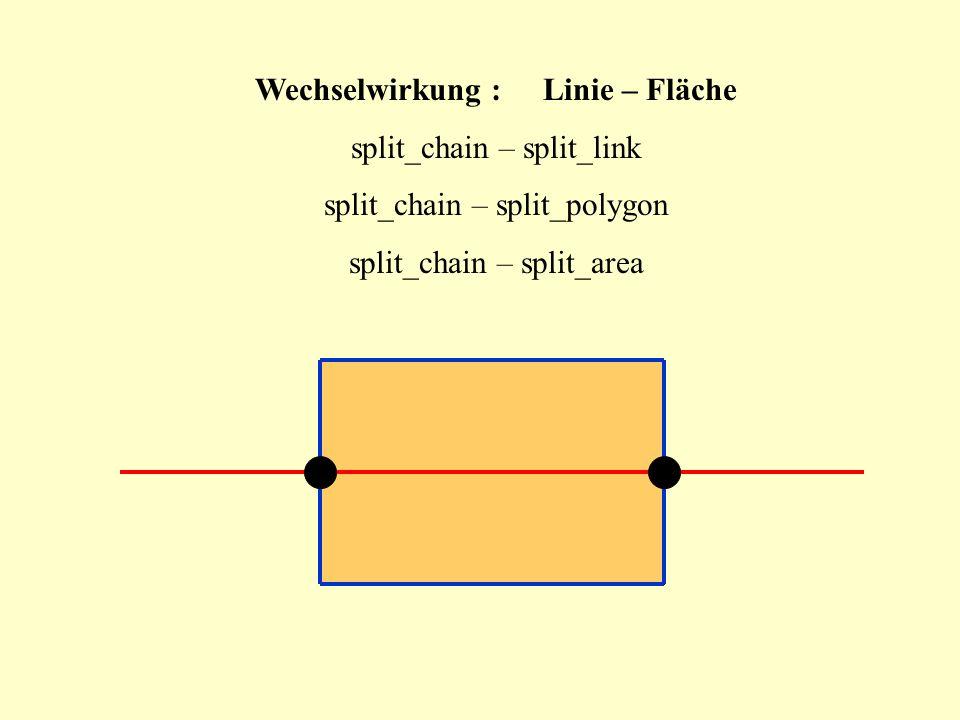 Wechselwirkung : Linie – Fläche