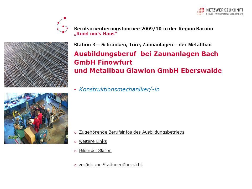 Ausbildungsberuf bei Zaunanlagen Bach GmbH Finowfurt