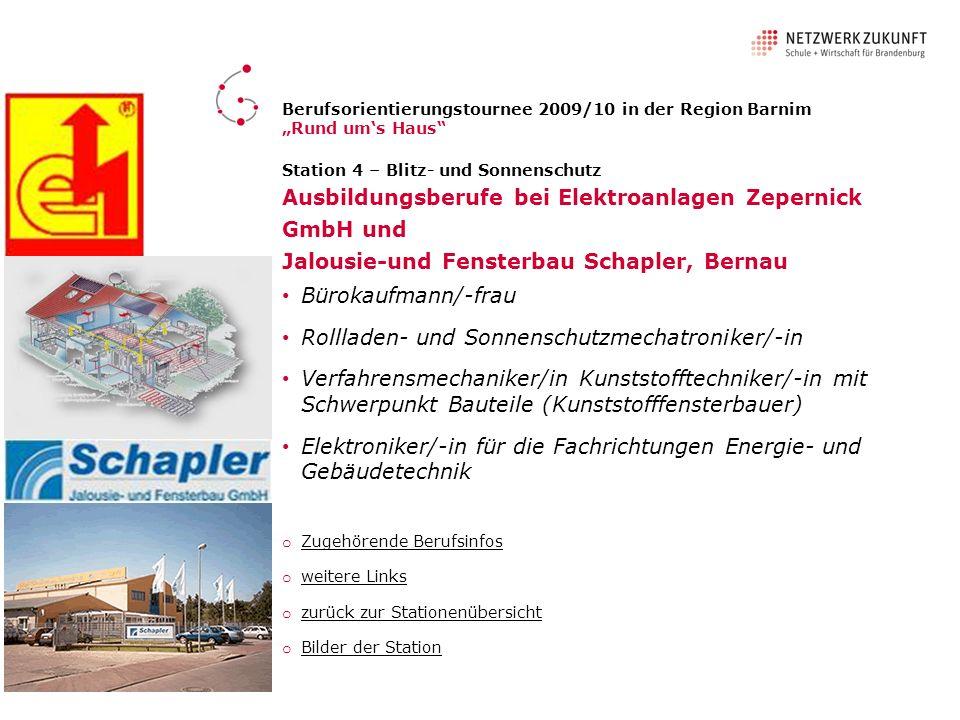 Ausbildungsberufe bei Elektroanlagen Zepernick GmbH und