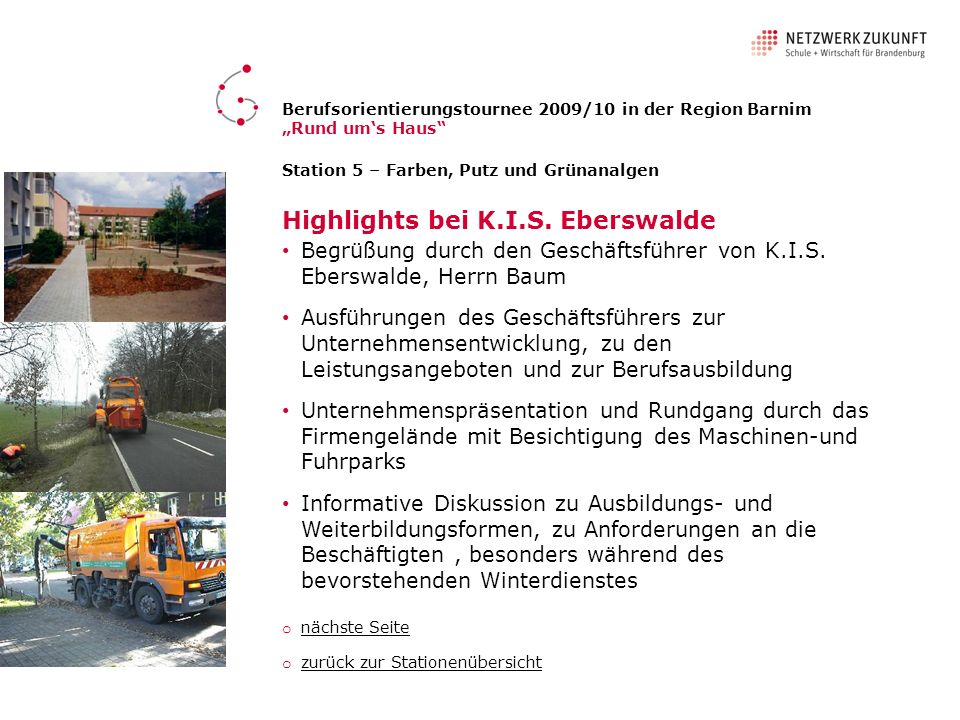 Highlights bei K.I.S. Eberswalde
