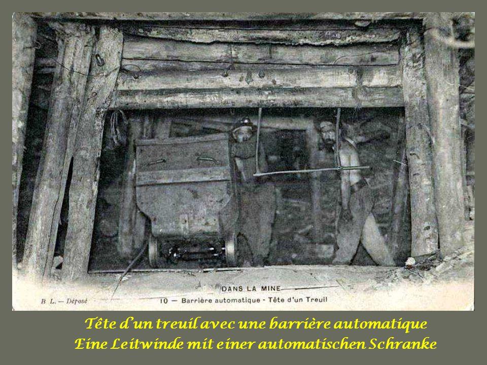 Tête d'un treuil avec une barrière automatique