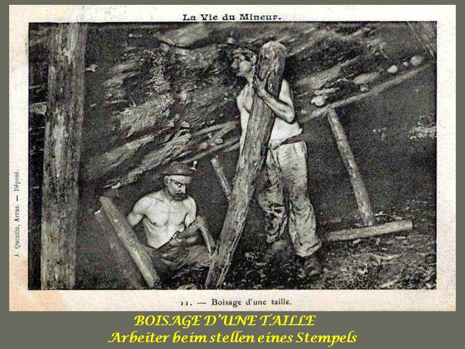 Arbeiter beim stellen eines Stempels