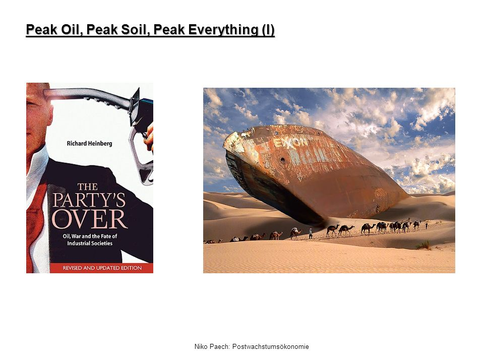 Peak Oil, Peak Soil, Peak Everything (I)