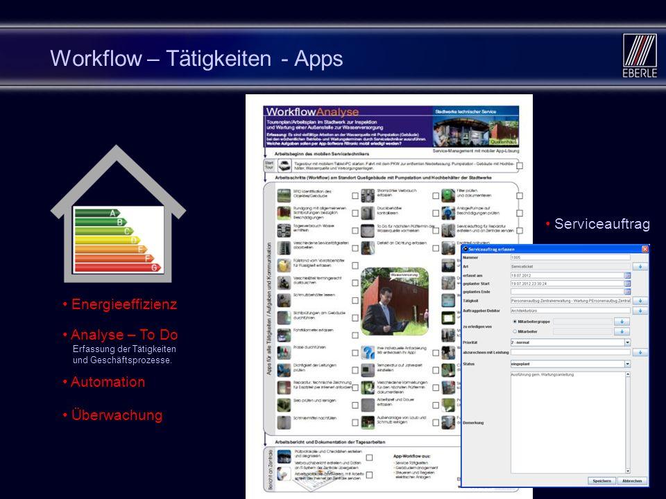 Workflow – Tätigkeiten - Apps