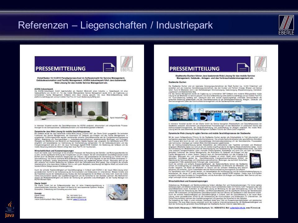 Referenzen – Liegenschaften / Industriepark