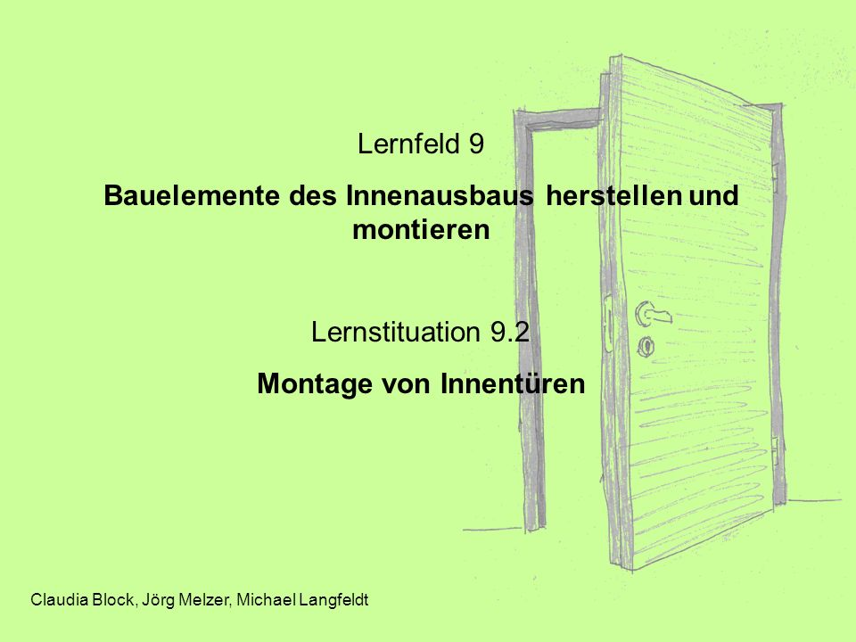 Bauelemente des Innenausbaus herstellen und montieren