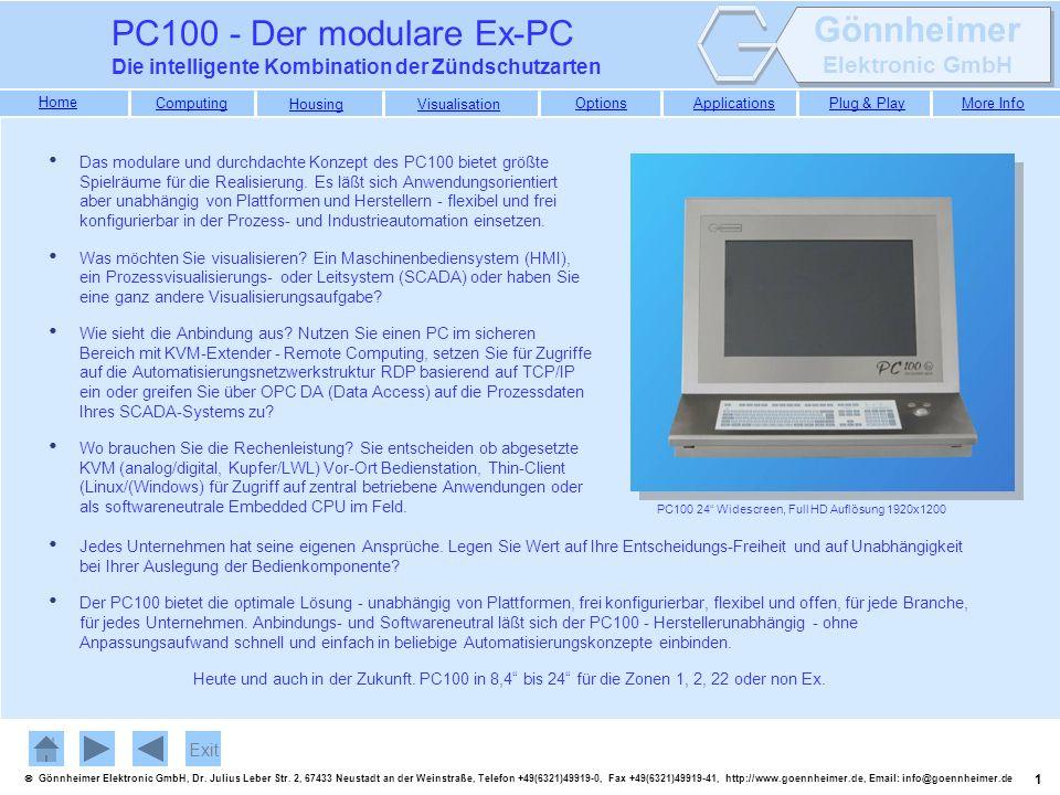 PC100 - Der modulare Ex-PC Die intelligente Kombination der Zündschutzarten.