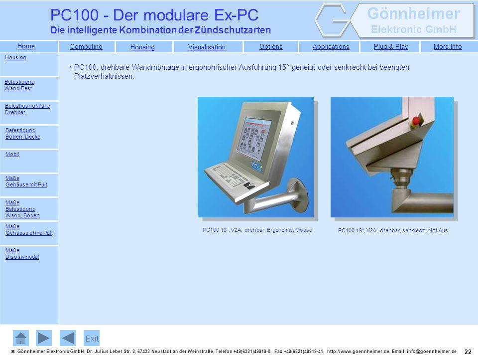 PC100 - Der modulare Ex-PC Die intelligente Kombination der Zündschutzarten. Housing.