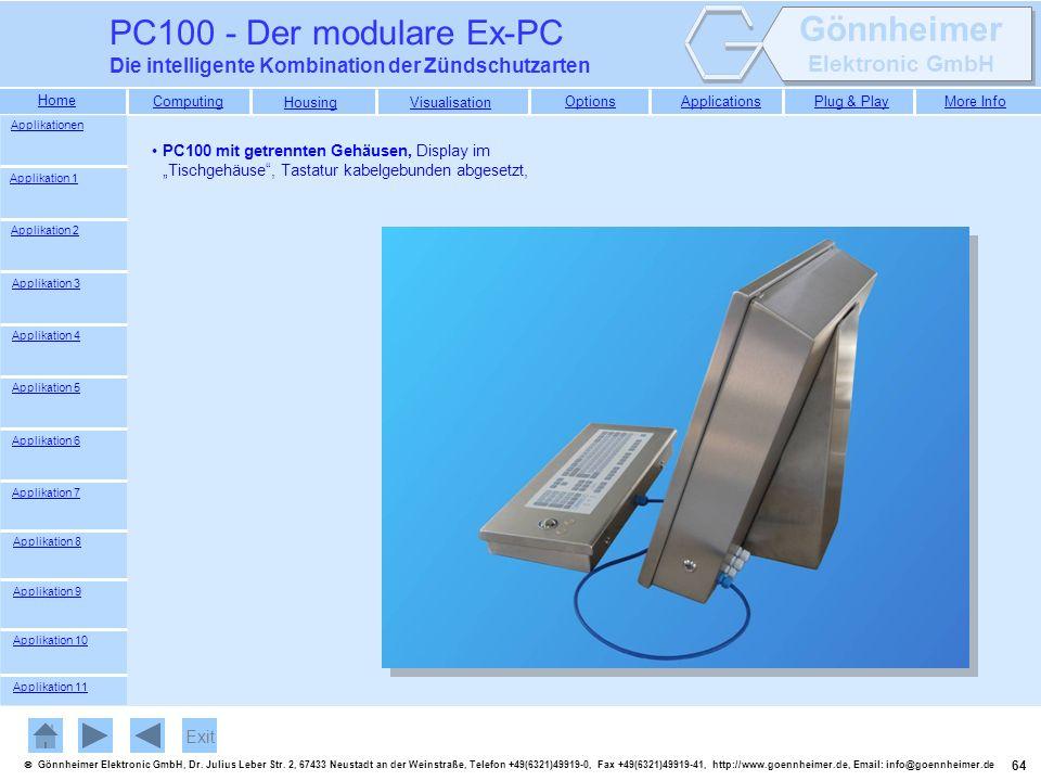 PC100 - Der modulare Ex-PC Die intelligente Kombination der Zündschutzarten. Applikationen.