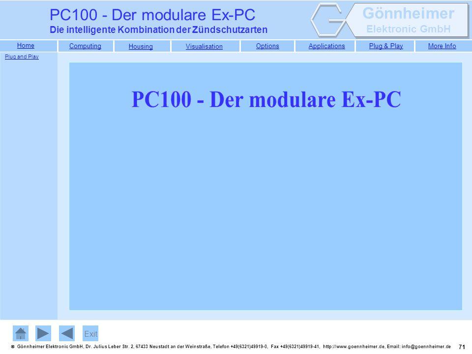 PC100 - Der modulare Ex-PC Die intelligente Kombination der Zündschutzarten Plug and Play Exit