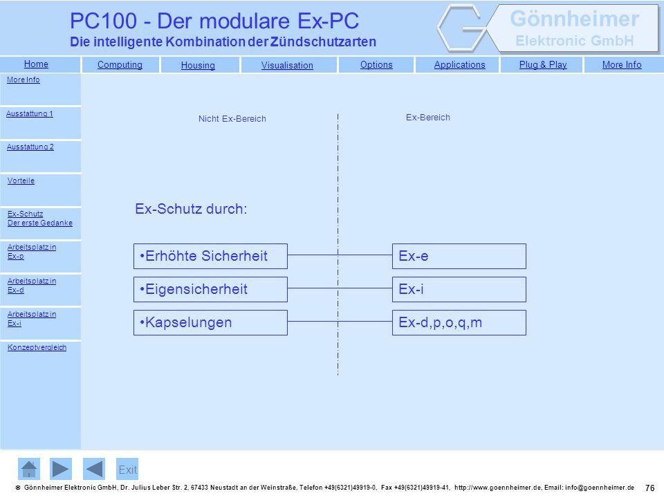 PC100 - Der modulare Ex-PC Ex-Schutz durch: Erhöhte Sicherheit Ex-e
