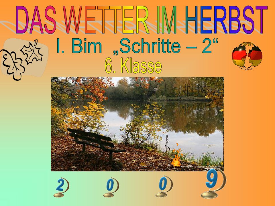 """DAS WETTER IM HERBST I. Bim """"Schritte – 2 6. Klasse"""