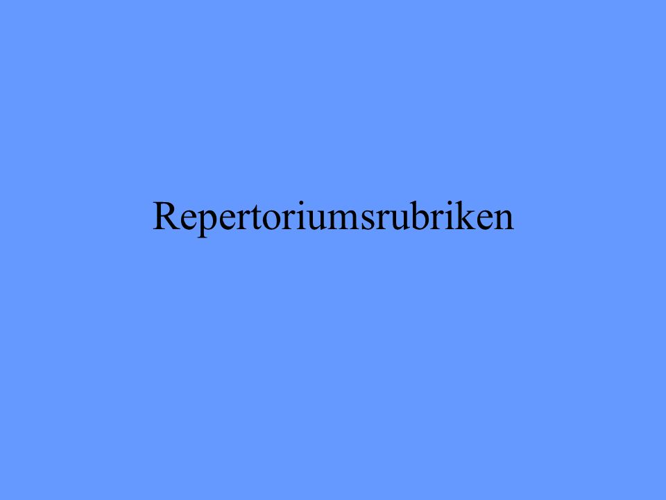 Repertoriumsrubriken