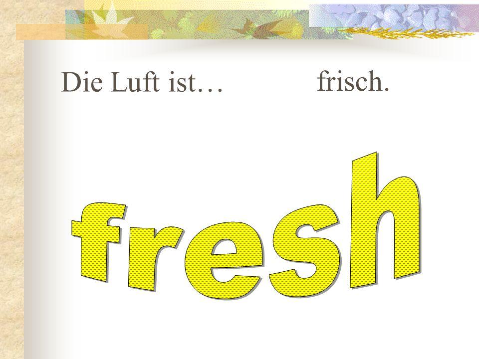 Die Luft ist… frisch. fresh