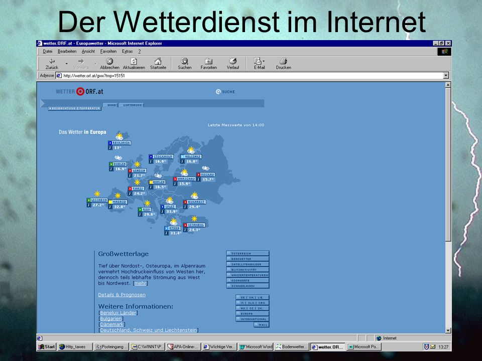 Der Wetterdienst im Internet