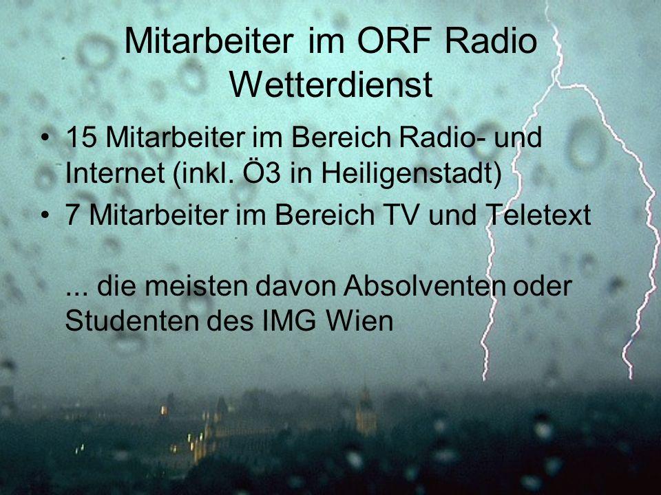 Mitarbeiter im ORF Radio Wetterdienst