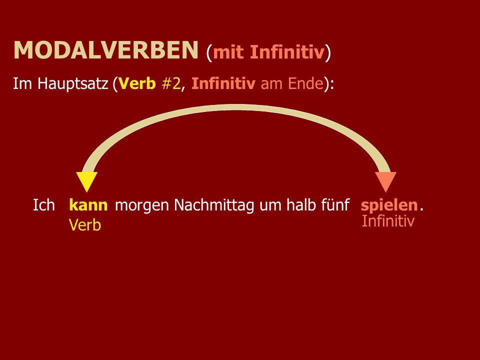 MODALVERBEN (mit Infinitiv)