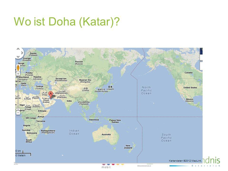 Wo ist Doha (Katar)