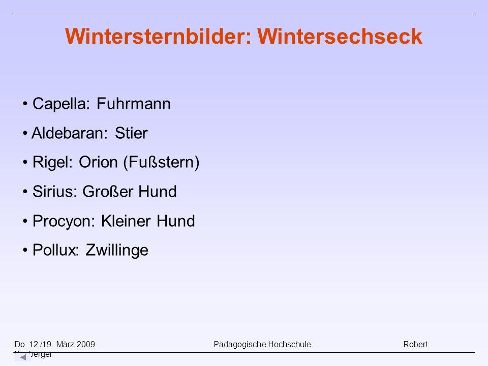 Wintersternbilder: Wintersechseck