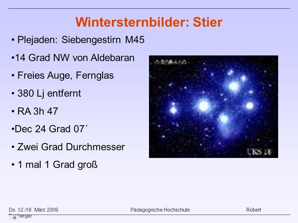 Wintersternbilder: Stier