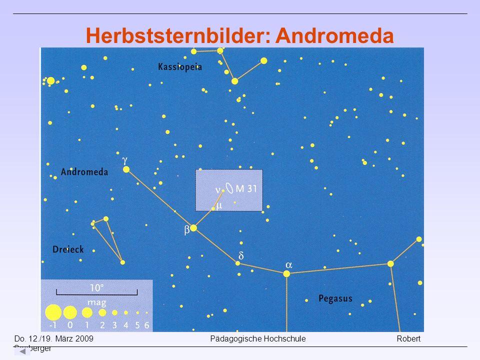 Herbststernbilder: Andromeda
