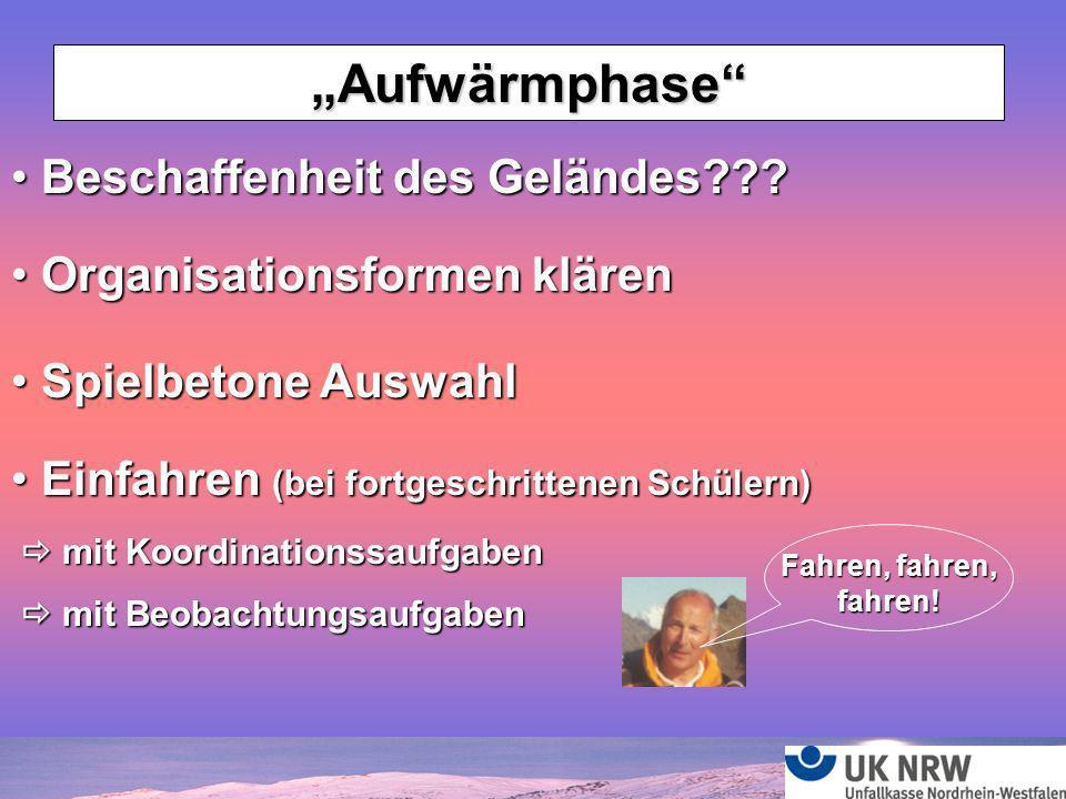 """""""Aufwärmphase Beschaffenheit des Geländes"""