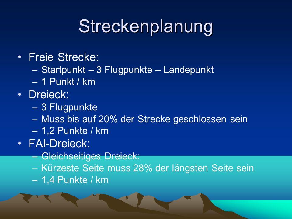 Streckenplanung Freie Strecke: Dreieck: FAI-Dreieck:
