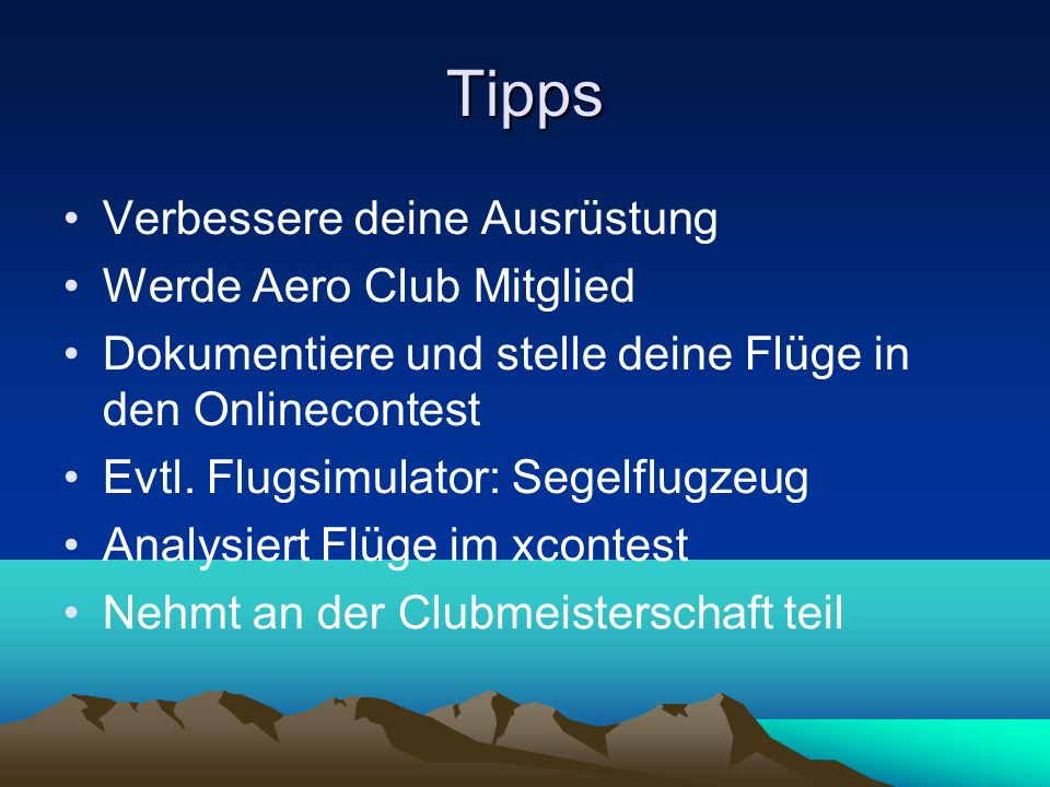 Tipps Verbessere deine Ausrüstung Werde Aero Club Mitglied