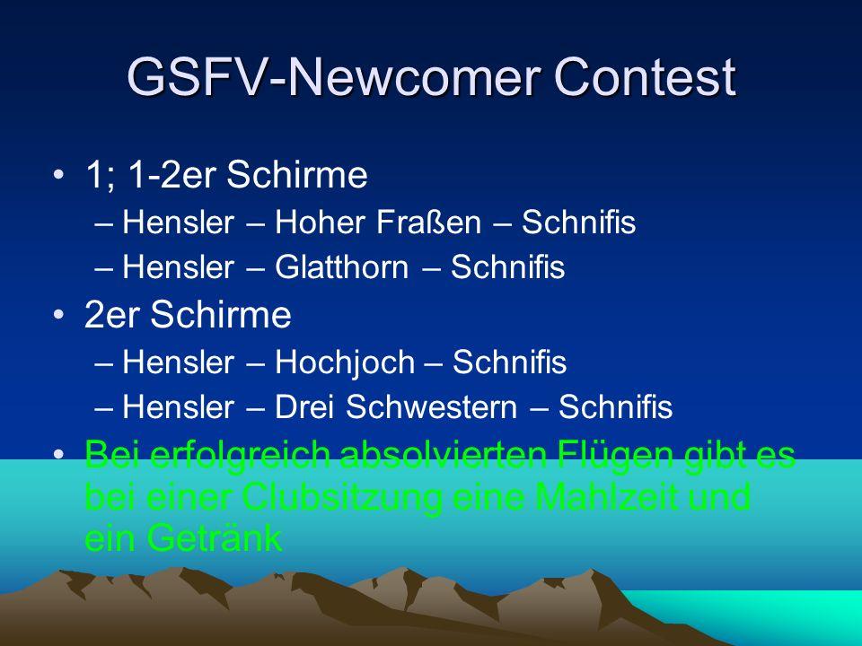GSFV-Newcomer Contest