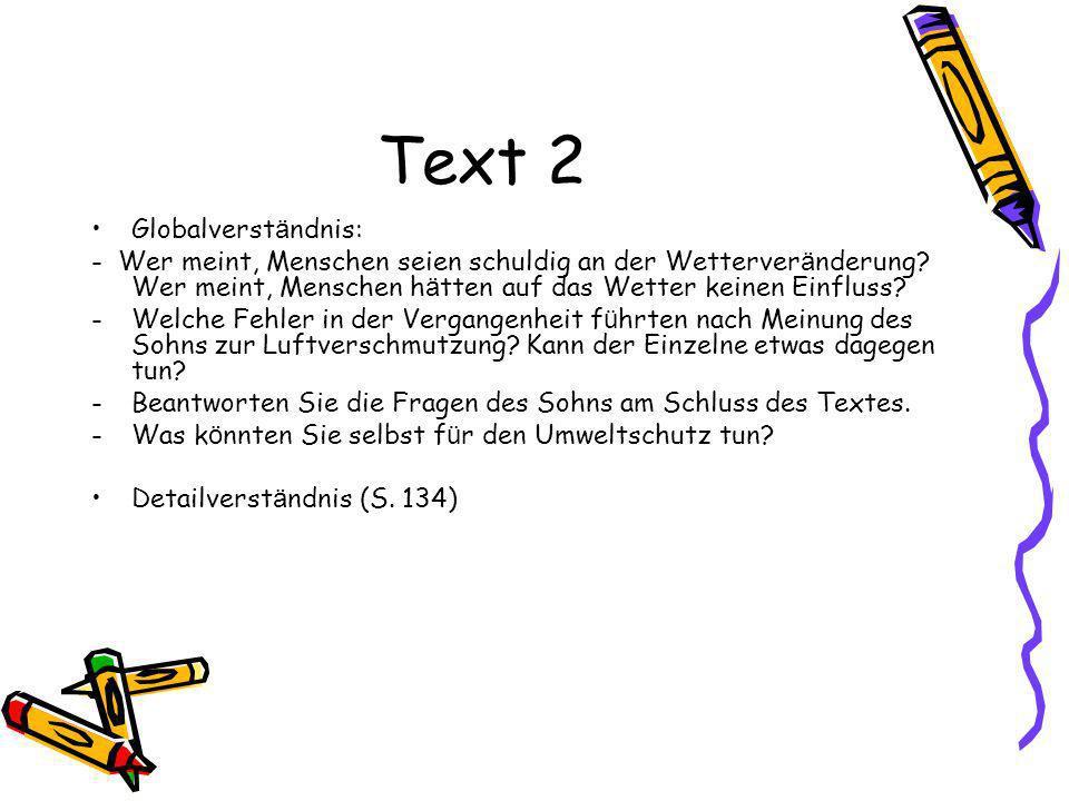 Text 2 Globalverständnis: