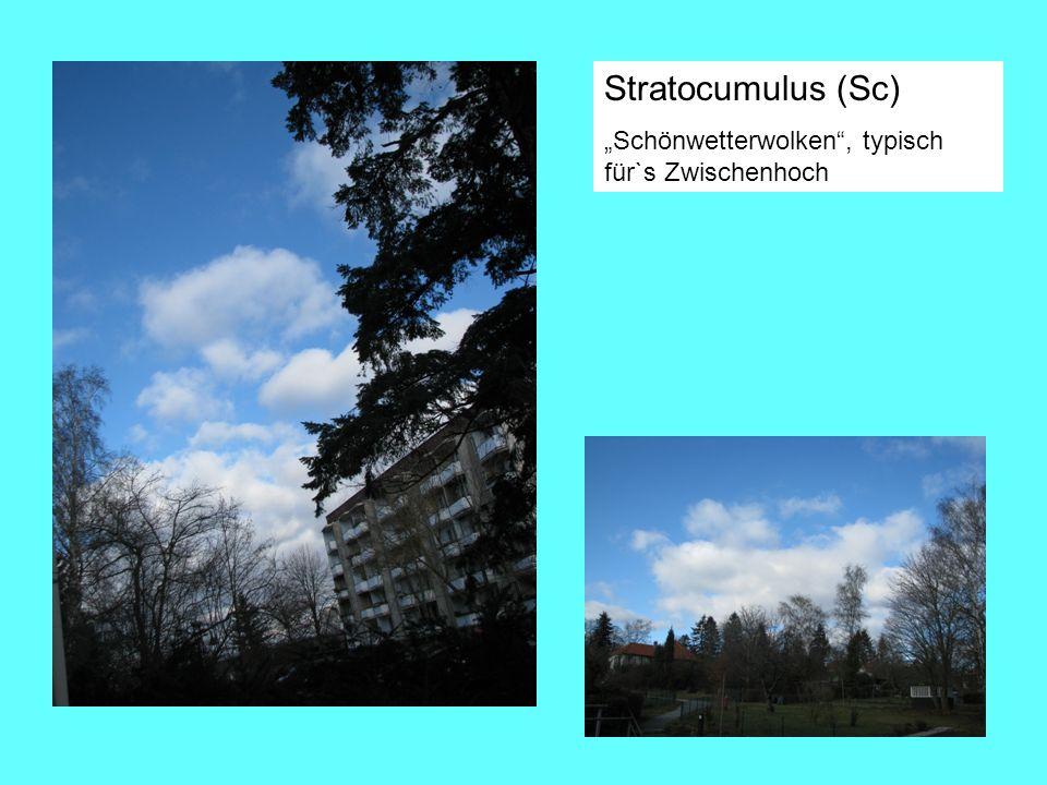 """Stratocumulus (Sc) """"Schönwetterwolken , typisch für`s Zwischenhoch"""