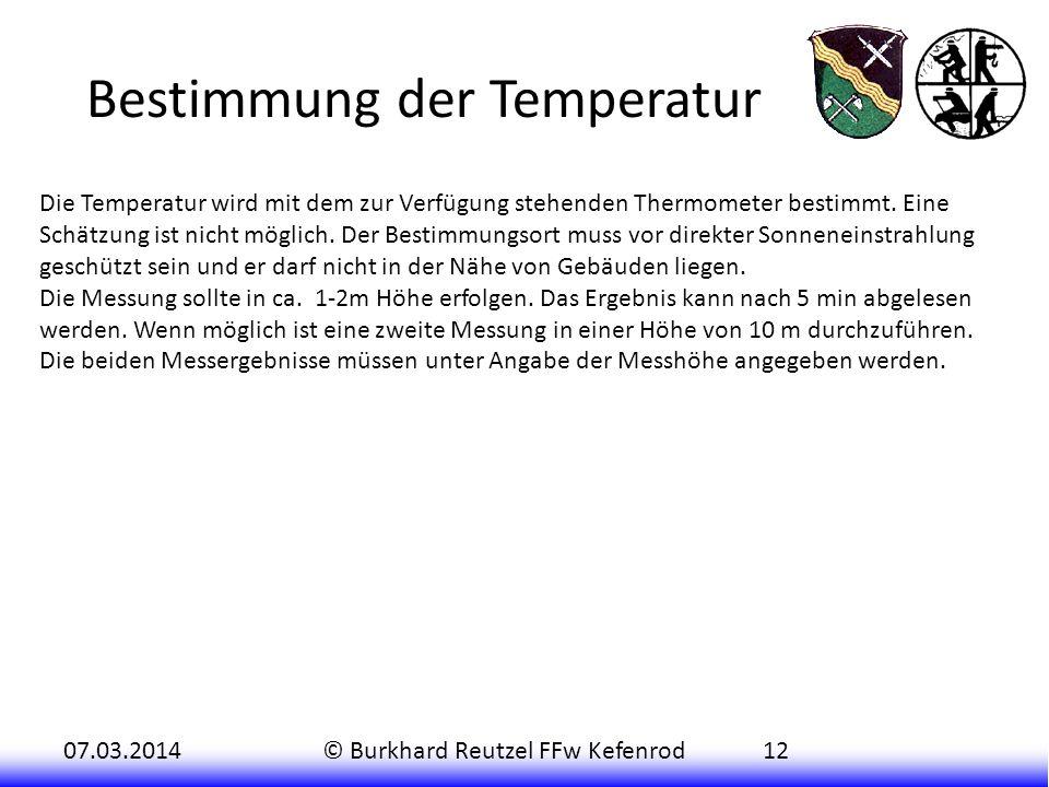 Bestimmung der Temperatur