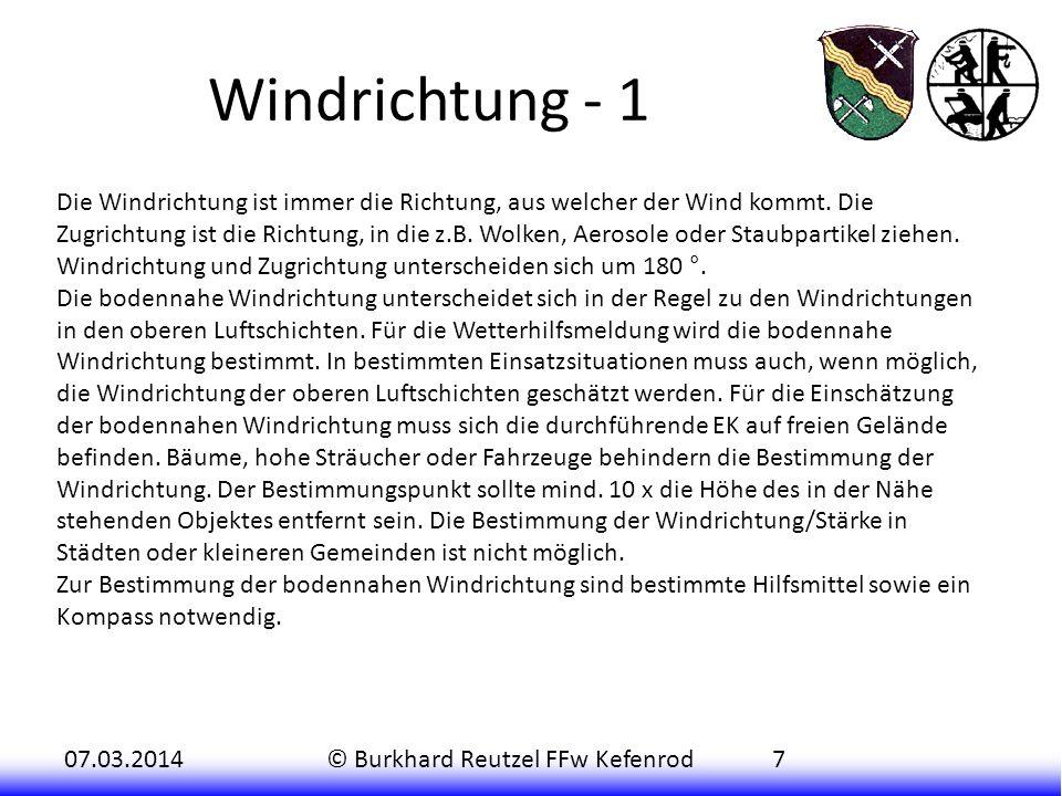 Windrichtung - 1
