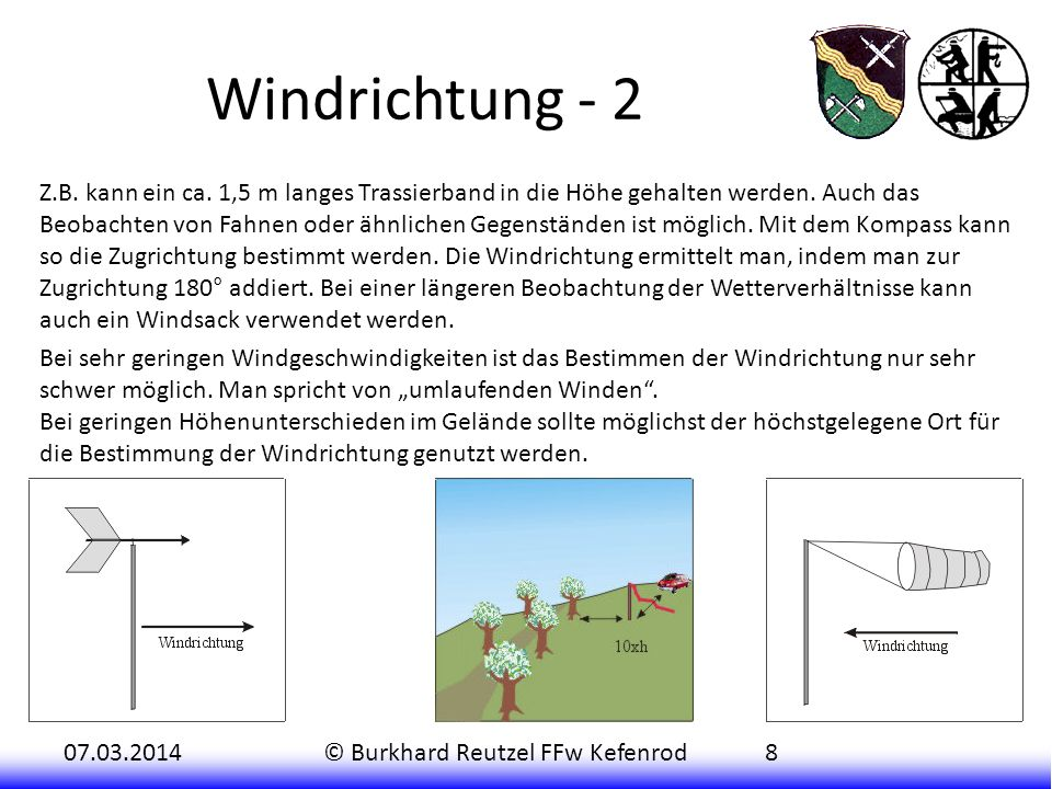 Windrichtung - 2