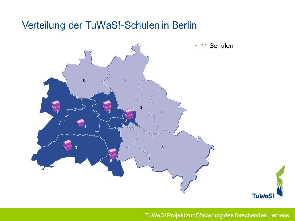 Verteilung der TuWaS!-Schulen in Berlin