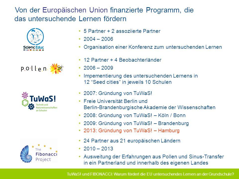 Von der Europäischen Union finanzierte Programm, die das untersuchende Lernen fördern