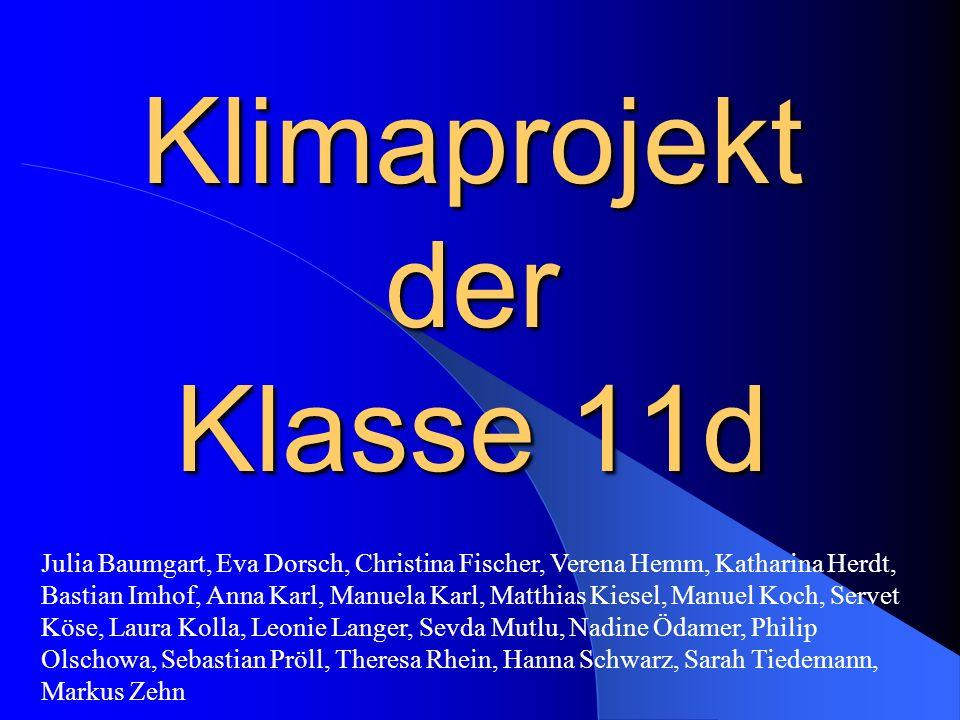 Klimaprojekt der Klasse 11d