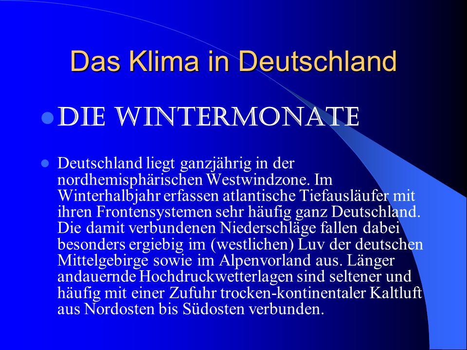 Das Klima in Deutschland