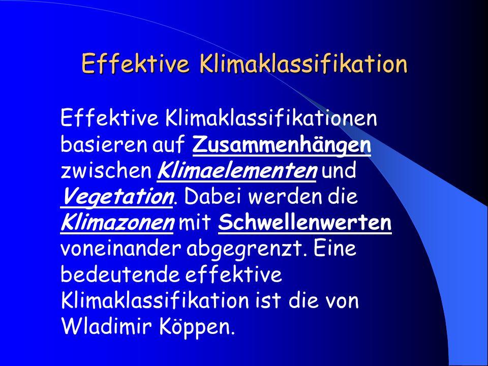 Effektive Klimaklassifikation