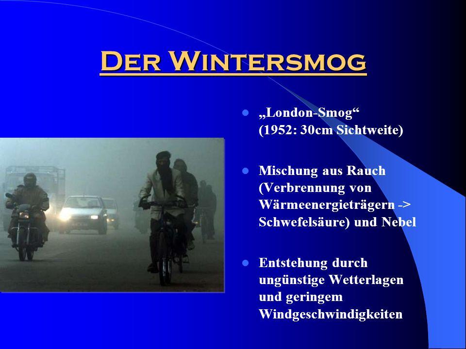 """Der Wintersmog """"London-Smog (1952: 30cm Sichtweite)"""
