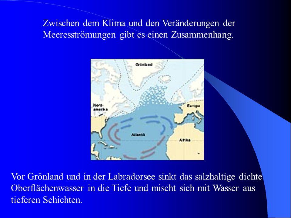 Zwischen dem Klima und den Veränderungen der Meeresströmungen gibt es einen Zusammenhang.