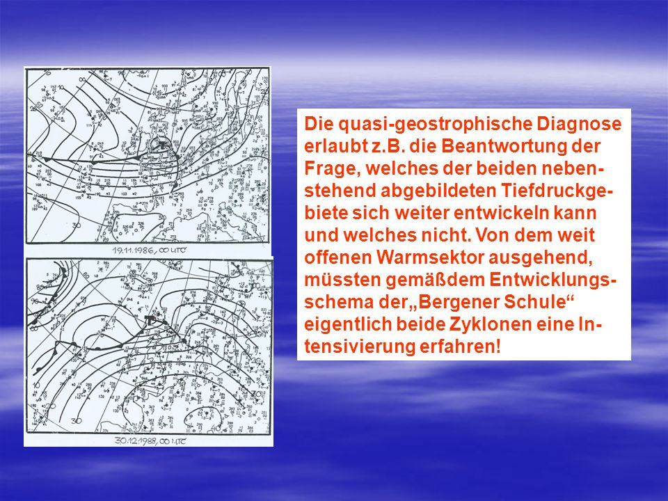 Die quasi-geostrophische Diagnose