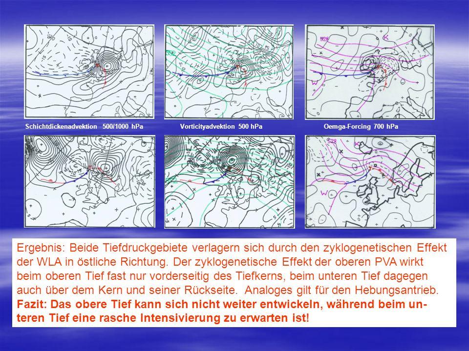 Schichtdickenadvektion 500/1000 hPa