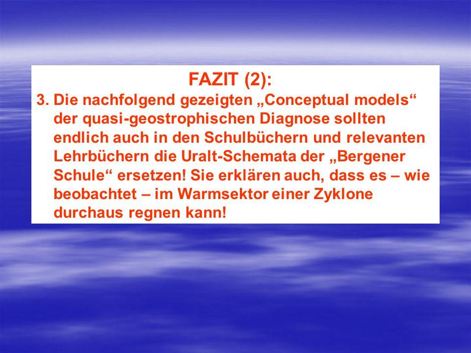 "FAZIT (2): 3. Die nachfolgend gezeigten ""Conceptual models"