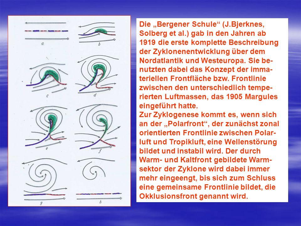 """Die """"Bergener Schule (J. Bjerknes, Solberg et al"""