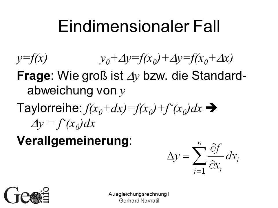 Eindimensionaler Fall