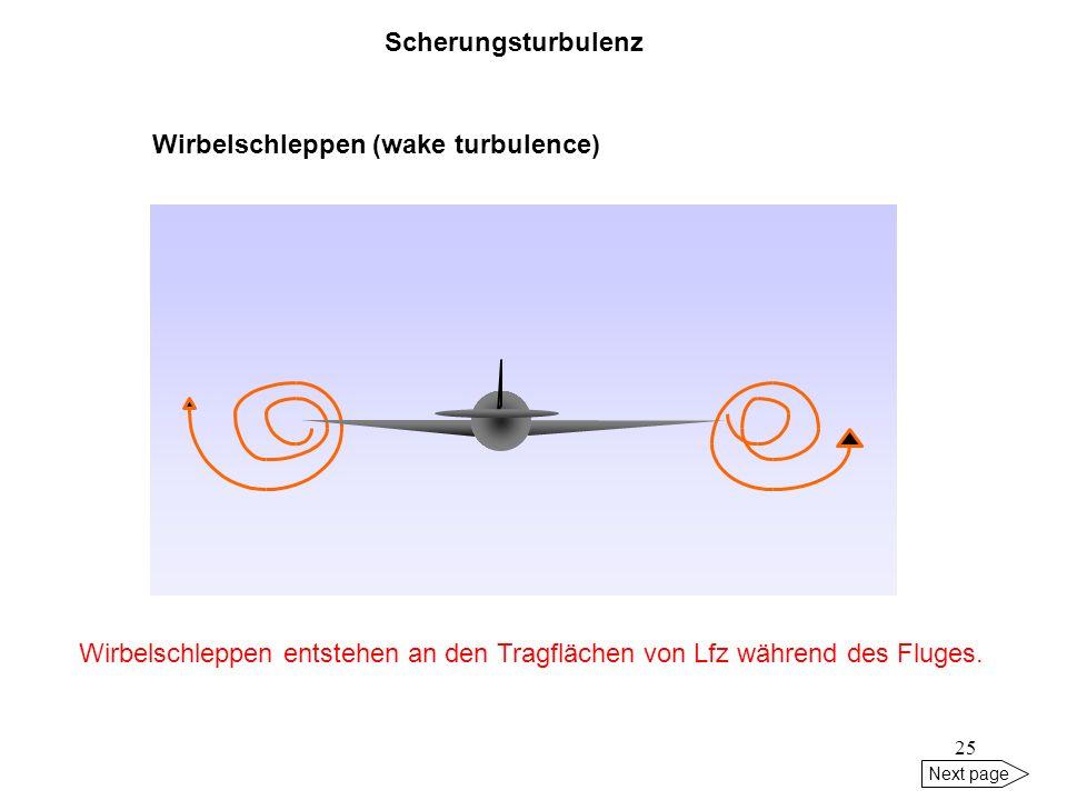 Wirbelschleppen (wake turbulence)